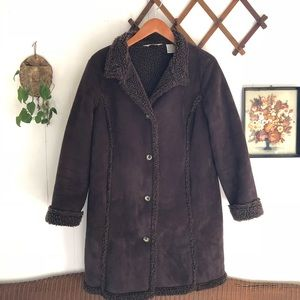 L.L. Bean • Fleece Lined Knee Length Coat